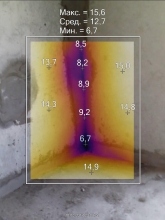 Просторный ж/м: Снимок межпанельного шва тепловизором