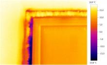 Просторный ж/м: Снимок окна тепловизором